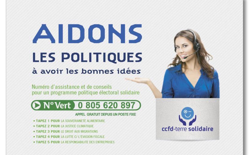 PRENONS LE PARTI : #AIDONS LA POLITIQUE